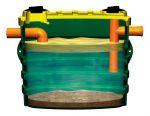 Degrassatore corrugato per il trattamento delle acque grigie modello NDD1200