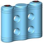 Serbatoio in monoblocco di polietilene (PE), per installazione fuori terra, serie Jolly, capacità 2000 litri