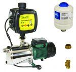 Sistema di pressurizzazione guidato da inverter mod. AD M/T EUROINOX 30/50 - T. liquido: -10°C +35°C - Grado di prot